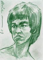 Bruce Lee Sketch card by mainasha