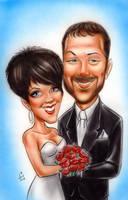 Wedding Themed caricature by mainasha