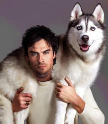 Ian and the Husky by LicieOIC