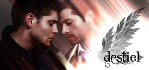 Painted Destiel: Detail A by LicieOIC