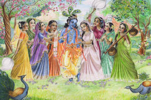 Krishna with Gopis by candrika108