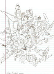 Chrono Trigger Group Sketch by St-Jimmy914
