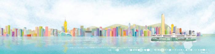 Hon Kong Victoria Harbour by moonngai