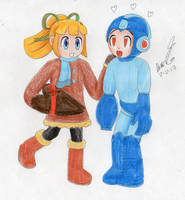 Valentine Roll with Megaman by MatthewGo707