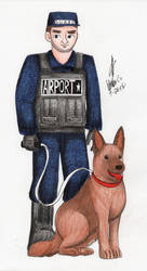 Airport Security Guard by MatthewGo707