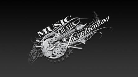 Music Creates Inspiration Wallpaper by reyjdesigns
