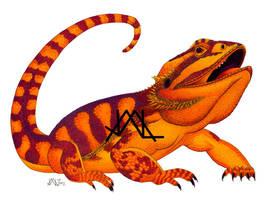 Oaxacan Bearded Dragon by JillianLambertArt