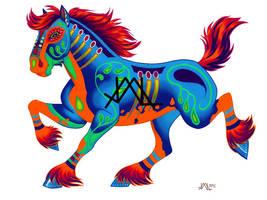 Oaxacan Horse by JillianLambertArt