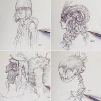 Vonnhaus Drawings by Tvonn9