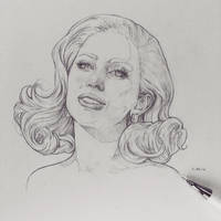 Vonn Sketch 2.29.16 - Gaga by Tvonn9