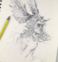 Vonn Sketch 3.15.17 - Awakening by Tvonn9