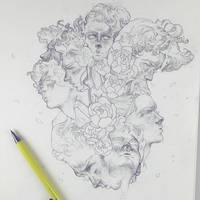 Vonn Sketch 3.24.17 - Scattered by Tvonn9