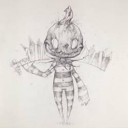 Drawtober 8/31 - Pumpkin Butcher by Tvonn9