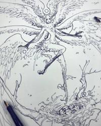 Drawtober - Harpy's Nest by Tvonn9