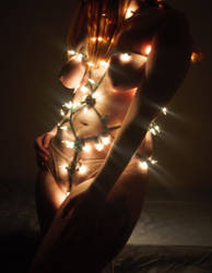 Christmas light Shibari by KyRin13