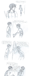 Percy Jackson-- Percy vs. Thalia by Golden-Flute