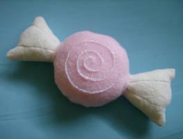 Strawberry Taffy Plushie by MythrilAngel