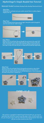 Simple Beaded Star Tutorial by MythrilAngel