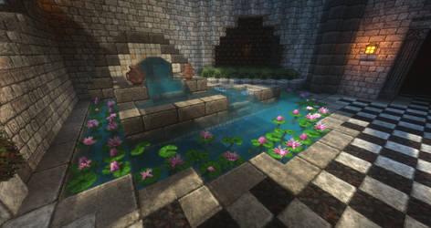 Tainted Halls - Lilypad Pond by MythrilAngel