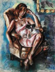 Lady and Dog by Mandi Cai by samxinzhang