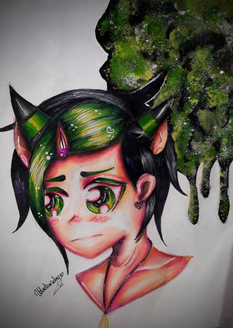 galaxy green  by Valuchivaluz