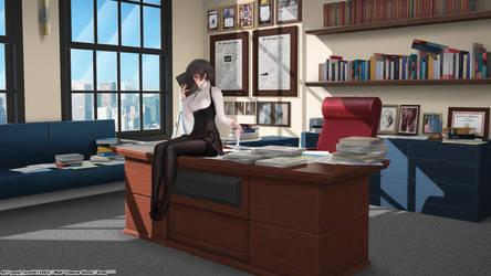 Niijima Makoto/ School Director Office/ Wallpapers by CheeseGhoul