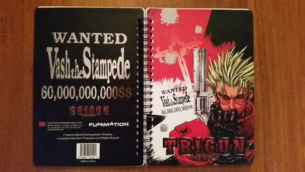 New York Comic Con 2016 - Trigun Notebook by NewYorkVash
