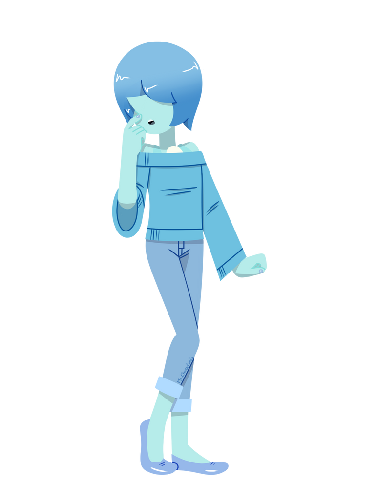I was dying to draw the casual outfit again today. I also made it lineless because I need to practice more on that.