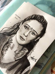 Lexa -ink by Less-L