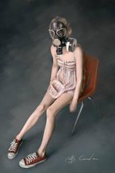 girl in sneakers by Forcetan