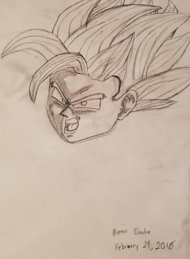 Goku's head by MarcusDragon111