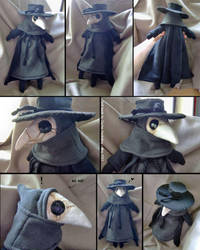 Plague Doctor Doll by bezzalair