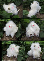 Albino Sheep Pookum by bezzalair