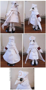Nurse Plague Doctor Doll by bezzalair