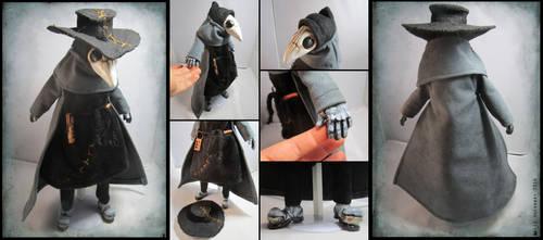 Grumpy Plague Doctor Doll by bezzalair