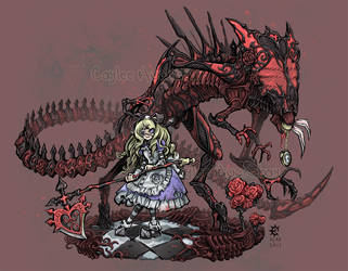 Alice and The Red Queen by bezzalair