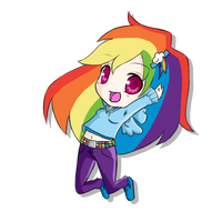 Chibi Rainbow Dash by rhamana