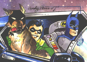 Bat-hound, Robin, Batman by andypriceart