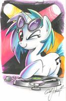 Vinyl Scratch marker sketch, My Little Pony by andypriceart