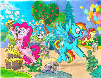 My Little Pony issue 1 Cover C and D by andypriceart
