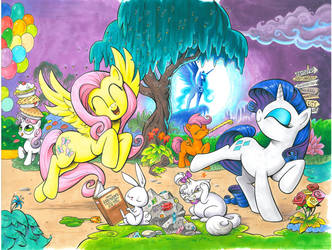 My Little Pony issue 1 Cover E and F by andypriceart