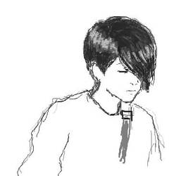 Sara Quin BW in paint by dillian