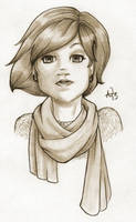 Scarf Girl by InkCell-Illustration