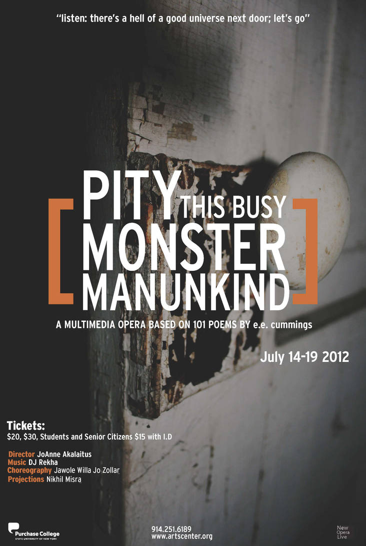 pity this busy monster manunkind poem