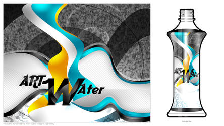 Art water Bottle by Bolkadesign