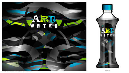 Art water Bottle-dark Art by Bolkadesign