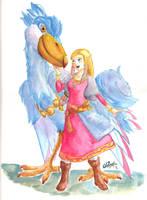 Zelda and her Bird by fluffycactus123