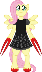 They Bleed Ponys - Fluttershy the Cute Demon Girl by Elcoron