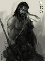 Qigong sketch by XiaTaptara
