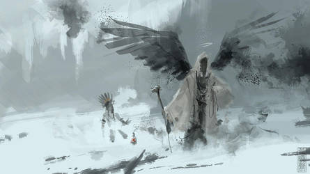 Archangel mage speedpainting by XiaTaptara